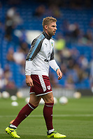 Burnley's Charlie Taylor during the pre-match warm-up <br /> <br /> Photographer Craig Mercer/CameraSport<br /> <br /> The Premier League - Chelsea v Burnley - Saturday August 12th 2017 - Stamford Bridge - London<br /> <br /> World Copyright &copy; 2017 CameraSport. All rights reserved. 43 Linden Ave. Countesthorpe. Leicester. England. LE8 5PG - Tel: +44 (0) 116 277 4147 - admin@camerasport.com - www.camerasport.com