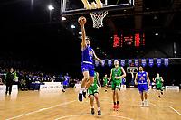 Saints' Reuben Te Rangi in action during the NBL - Cigna Saints v Manawatu Jets at TSB Bank Arena, Wellington, New Zealand on Sunday 30 June 2019. <br /> Photo by Masanori Udagawa. <br /> www.photowellington.photoshelter.com