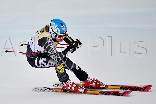 January 30, 2010: Kaylin Richardson of the US during the downhill portion of the Women's FIS Ski World Cup race in St. Moritz, Switzerland. Photo: CalSports/Actionplus - Editorial Use....
