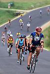 RAGBRAI riders coast down a hill on their way into Graf on Saturday on RAGBRAI XXXVIII.