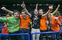 02-02-14,Czech Republic, Ostrava, Cez Arena, Davis Cup Czech Republic vs Netherlands, Dutch Fans<br /> Photo: Henk Koster