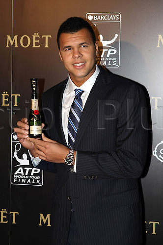 03.11.2012.  London, England.  ATP Tennis men World Tour Finals 2012 Pre-games  Gala Picture shows Jo Wilfried Tsonga FRA