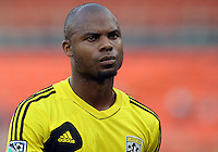 WASHINGTON, DC - AUGUST 4, 2012:  Julius James (26) of the Columbus Crew during an MLS match against DC United at RFK Stadium in Washington DC on August 4. United won 1-0.