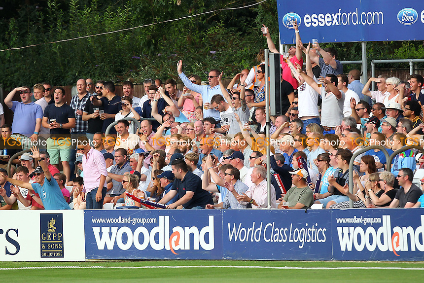 Essex fans celebrates another boundary - Essex Eagles vs Sussex Sharks - NatWest T20 Blast Cricket at the Essex County Ground, Chelmsford, Essex - 25/07/14 - MANDATORY CREDIT: Gavin Ellis/TGSPHOTO - Self billing applies where appropriate - contact@tgsphoto.co.uk - NO UNPAID USE