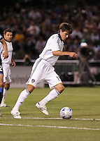 Stefani Miglioranzi controls the ball. San Jose Earthquakes tied Los Angeles Galaxy 1-1 at the McAfee Colisum in Oakland, California on April 18, 2009.