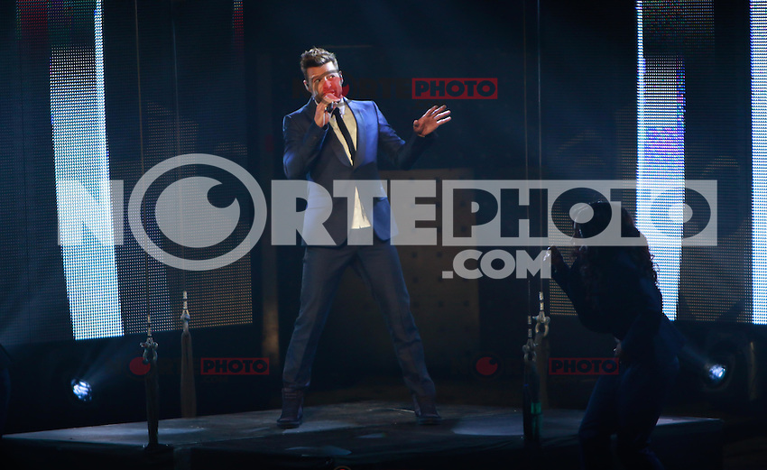 The dancer and singer Puerto Rican , Ricky Martin, during the night of his concert at The AXIS at Planet Hollywood in Las Vegas Nevada on 15 Sep 2015.