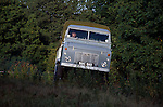 Land Rover Forward Control 110 Series 2B Diesel RHD, Chassis No. 33500001A, Registration NXC 511D, Engine 2286cc Diesel. Belonging to the Dunsfold Collection of Landrovers, Surrey, UK. NO RELEASES AVAILABLE. Automotive trademarks are the property of the trademark holder, authorization may be needed for some uses. --- Info: This Forward Control is chassis number 1, 2b Diesel right hand drive. It has had a full restoration in 1997. There were two types of Forward Controls in production in the 60s, the 2a and 2b. Production started in 1962 and ran to 1972. Around 5450 units were produced in total. The most common engine was the 2.6 six-cylinder petrol. Load capacity was 30cwt. The 2a had a very similar chassis to the normal bonneted control model with 109 inch wheelbase, the 2b had a 110 inch wheelbase chassis. A chassis cab could be converted to many useful roles. This F/C actually has had little practical use due to its top speed of 40mph.