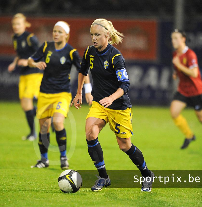 Belgium - Sweden : .Caroline Seger (C).foto DAVID CATRY / Vrouwenteam.be