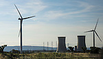 VMI Vincentian Heritage Tour: Massive wind turbines (wind mills) near a nuclear plant in the south of France, Monday, June 27, 2016. (DePaul University/Jamie Moncrief)