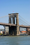 New York City, New York: Brooklyn Bridge  .Photo #: ny251-14686  .Photo copyright Lee Foster, www.fostertravel.com, lee@fostertravel.com, 510-549-2202.