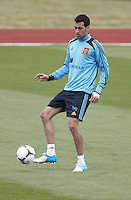 POLAND - Gniewino - 06 JUNE 2012 - Spain Training Session at Gniewino. Sergio Busquets during the training session.
