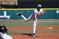 CARY, NC - FEBRUARY 23: Mason Mellott #18 of Penn State University pitches the ball during a game between Wagner and Penn State at Coleman Field at USA Baseball National Training Complex on February 23, 2020 in Cary, North Carolina.
