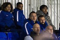 Former Chelsea defender John Terry now with Aston Villa  watches from the stand during the UEFA Youth League group match between Chelsea and Atletico Madrid Juvenil A at the Chelsea Training Ground, Cobham, England on 5 December 2017. Photo by Andy Rowland.
