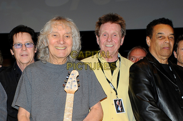 LONDON, ENGLAND - March 1: Shakin' Stevens, Bill Wyman, Albert Lee, Joe Brown and Gary US Bonds at the Albert Lee 70th Birthday Celebration concert at Cadogan Hall on March 1, 2014 in London, England<br /> CAP/MAR<br /> &copy; Martin Harris/Capital Pictures