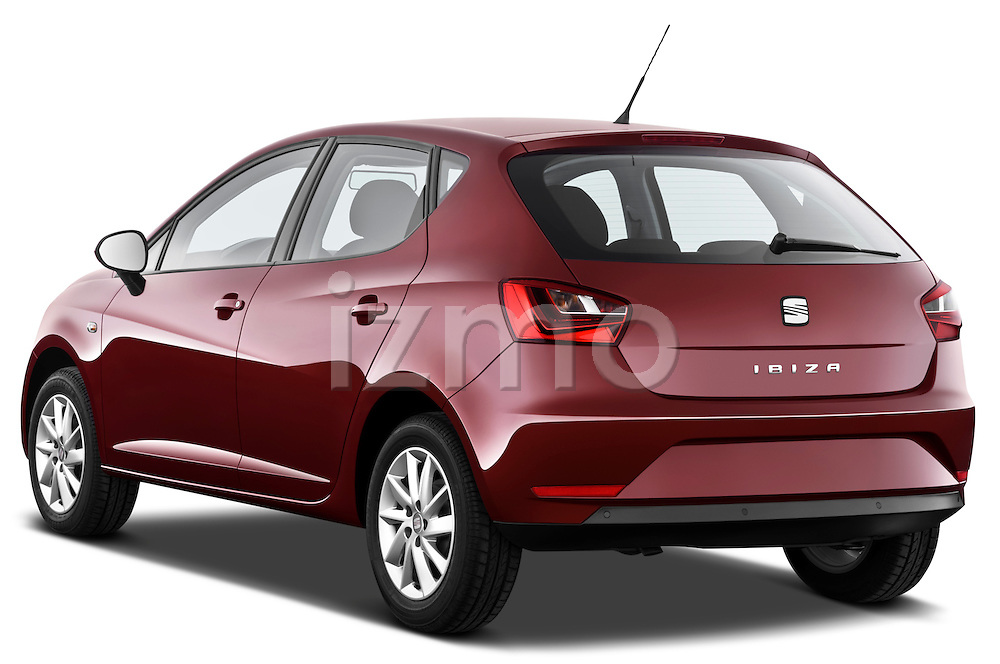Rear three quarter view of a 2013 Seat Ibiza Style Hatchback