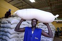 BURKINA FASO, Bobo Dioulasso,  company Nafaso hybrid seed production and trade, Hybrid rice seeds / Hybrid Reis Saatgut der Firma Nafaso, Saatgutherstellung und Handel