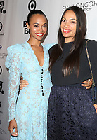 LOS ANGELES, CA - NOVEMBER 8: Zoe Saldana and Rosario Dawson at the Eva Longoria Foundation Dinner Gala honoring Zoe Saldaña and Gina Rodriguez at The Four Seasons Beverly Hills in Los Angeles, California on November 8, 2018. Credit: Faye Sadou/MediaPunch