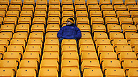 A Solitary Wolves fan enjoys the pre-match atmosphere <br /> <br /> Photographer Lee Parker/CameraSport<br /> <br /> The Premier League - Wolverhampton Wanderers v Newcastle United - Saturday 11th January 2020 - Molineux - Wolverhampton<br /> <br /> World Copyright © 2020 CameraSport. All rights reserved. 43 Linden Ave. Countesthorpe. Leicester. England. LE8 5PG - Tel: +44 (0) 116 277 4147 - admin@camerasport.com - www.camerasport.com