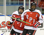 Brock Higgs (RPI - 23), John Kennedy (RPI - 5) - The visiting Rensselaer Polytechnic Institute Engineers tied their host, the Northeastern University Huskies, 2-2 (OT) on Friday, October 15, 2010, at Matthews Arena in Boston, MA.