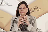 """Washington, DC - September 24, 2019: Ambassador of Mexico to the United States Martha Barcena Coqui delivers remark about """"America's Leading Entrepreneurs"""" today Sep 24, 2019 at Latina's Prosperity Summite in Washington DC. Ambassador of Mexico to the United States Martha Barcena Coqui  September 24, 2019. (Photo by Lenin Nolly/Media Images International)"""