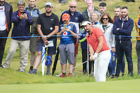 Mike Lorenzo-Vera (FRA) chips onto the 17th green during Saturday's Round 3 of the Dubai Duty Free Irish Open 2019, held at Lahinch Golf Club, Lahinch, Ireland. 6th July 2019.<br /> Picture: Eoin Clarke | Golffile<br /> <br /> <br /> All photos usage must carry mandatory copyright credit (© Golffile | Eoin Clarke)
