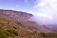 Cinder cone at Haleakala crater along sliding sands trail, Maui