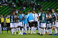 PALMIRA - COLOMBIA, 03-08-2019: Jugadores del Cali celebran después del partido entre Deportivo Cali y La Equidad por la fecha 4 de la Liga Águila II 2019 jugado en el estadio Deportivo Cali de la ciudad de Palmira. / Players of Cali celebrate after match between Deportivo Cali and La Equidad for the date 4 as part Aguila League II 2019 played at Deportivo Cali stadium in Palmira city. Photo: VizzorImage / Nelson Rios / Cont