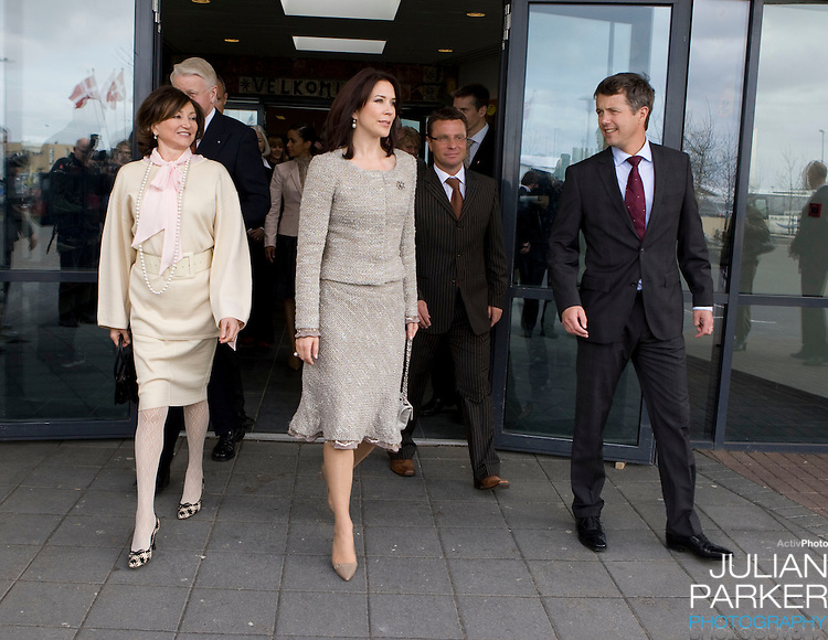 Crown Prince Frederick and Crown Princess Mary of Denmark begin a four day official visit to Iceland, visit a primary School, near  Reykjavik, accompanied  by The President of Iceland, Olafur Ragnar Grimsson, and his wife Dorrit Moussaieff
