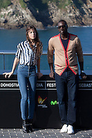 Actors Charlotte Gainsgourg and Omar Sy present the film: 'Samba' during the 62st San Sebastian Film Festival in San Sebastian, Spain. September 27, 2014. (ALTERPHOTOS/Caro Marin) /NortePHOTO.com /nortephoto.com