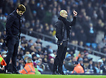 Manchester City Manager Josep Guardiola fist pump with a dejected Tottenham Hotspur Manager Mauricio Pochettino during the premier league match at the Etihad Stadium, Manchester. Picture date 16th December 2017. Picture credit should read: Robin ParkerSportimage