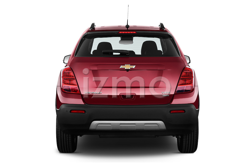 Straight rear view of a 2013 Chevrolet TRAX LT+ 5 Door Suv 2WD