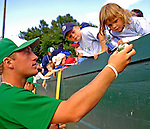 30 June 2007: Vermont Lake Monsters pitcher Jordan Zimmermann signs autographs prior to a game against the Lowell Spinners at Historic Centennial Field in Burlington, Vermont. The Spinners defeated the Lake Monsters 8-4 in the last game of their 3-game NY Penn-League series...Mandatory Photo Credit: Ed Wolfstein Photo