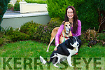 Launching the Postural Strength & Fitness  fundraising day charity event in  Kinetic Health and Fitness,Studio  Monavalley Tralee in aid of Cork DAWG, Animal Help Net Kerry and Madagascar Neutering Project on Sunday  26th November  starting at 10am. Pictured   Claire Quinlan with rescued dogs Molly and Finn