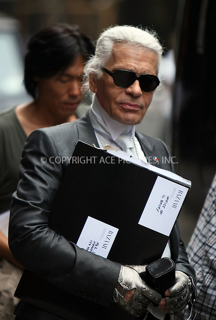 WWW.ACEPIXS.COM . . . . .  ....June 1 2011, New York City....Chanel designer Karl Lagerfeld seen in Soho on June 1 2011 in New York City....Please byline: CURTIS MEANS - ACE PICTURES.... *** ***..Ace Pictures, Inc:  ..Philip Vaughan (212) 243-8787 or (646) 679 0430..e-mail: info@acepixs.com..web: http://www.acepixs.com