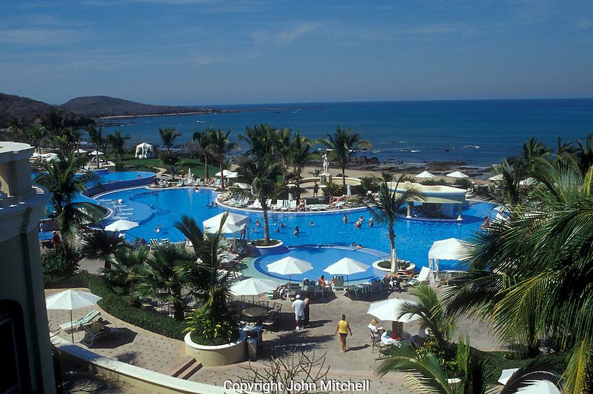 Swimming pool at Pueblo Bonito Emerald Bay resort in Nuevo Mazatlan, Sinaloa, Meico..