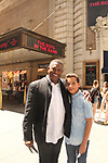 "All My Children's William Christian ""Derek Frye"" along with his son Sam going to Broadway's show ""Boys in the Band"" as they have been on a cross country trip by car from LA to NYC and back.  (Photo by Sue Coflin/Max Photo)"