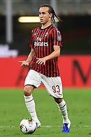 Diego Laxalt of AC Milan during the Serie A football match between AC Milan and Atalanta BC at stadio Giuseppe Meazza in Milano ( Italy ), July 24th, 2020. Play resumes behind closed doors following the outbreak of the coronavirus disease. <br /> Photo Image Sport / Insidefoto
