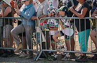 World Champ fans at the finish awaiting their heroes<br /> <br /> Stage 10: Annecy &gt; Le Grand-Bornand (159km)<br /> <br /> 105th Tour de France 2018<br /> &copy;kramon