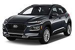 2018 Hyundai Kona SEL AUTO 5 Door SUV angular front stock photos of front three quarter view
