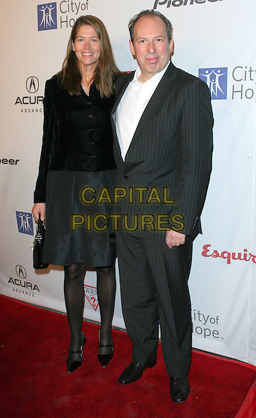 "SUZANNE ZIMMER & HANS ZIMMER .""Songs of Hope V"" presented by City of Hope's Music & Entertainment Industry sponsored by Acura, Guess and Pioneer held at Esquire House, Hollywood, California, USA..November 6th, 2008.full length black suit dress jacket .CAP/ADM/TC.©T. Conrad/AdMedia/Capital Pictures."