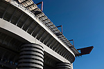 An exterior view of the Stadio Giuseppe Meazza, also known as the San Siro, before Internationale took on Cagliari in an Italian Serie A fixture. The match was overshadowed by a huge controversy that as Inter Ultras declared open warfare on captain Mauro Icardi for a chapter in his autobiography, accusing him of lying about an incident in 2015. Inter Milan lost the match 2-1, watched by a crowd of 43,757.