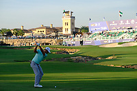 Xander Schauffele (USA) in the 18th fairway during the 1st round of the DP World Tour Championship, Jumeirah Golf Estates, Dubai, United Arab Emirates. 15/11/2018<br /> Picture: Golffile | Fran Caffrey<br /> <br /> <br /> All photo usage must carry mandatory copyright credit (&copy; Golffile | Fran Caffrey)