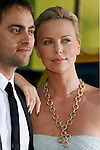 "Actor Stuart Townsend and actress Charlize Theron arrive to The World Premiere of Columbia Pictures' ""Hancock"" at the Grauman's Chinese Theatre on June 30, 2008 in Hollywood, California."