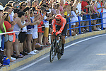 CCC Team in action during Stage 1 of La Vuelta 2019, a team time trial running 13.4km from Salinas de Torrevieja to Torrevieja, Spain. 24th August 2019.<br /> Picture: Eoin Clarke | Cyclefile<br /> <br /> All photos usage must carry mandatory copyright credit (© Cyclefile | Eoin Clarke)