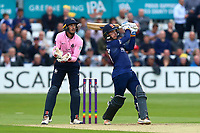 Adam Wheater of Essex hits six runs as John Simpson looks on from behind the stumps during Essex Eagles vs Middlesex, NatWest T20 Blast Cricket at The Cloudfm County Ground on 11th August 2017