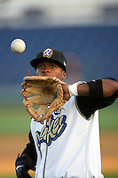 April 14, 2010:  Ivan Contreras of the Rancho Cucamonga Quakes before game against the Modesto Nuts at The Epicenter in Rancho Cucamonga,CA.  Photo by Larry Goren/Four Seam Images