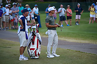 Thorbjorn Olesen (DEN) looks at his drop after hitting his drive in the water on 12 during round 4 of the WGC FedEx St. Jude Invitational, TPC Southwind, Memphis, Tennessee, USA. 7/28/2019.<br /> Picture Ken Murray / Golffile.ie<br /> <br /> All photo usage must carry mandatory copyright credit (© Golffile | Ken Murray)