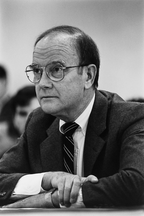 Rep. Owen B. Pickett, D-Va., on May 6, 1992. (Photo by Maureen Keating/ CQ Roll Call)