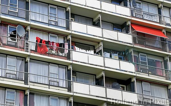 Nederland Zaandam 2017 04 22 . Flat in Hoornseveld. Foto Berlinda van Dam / Hollandse Hoogte