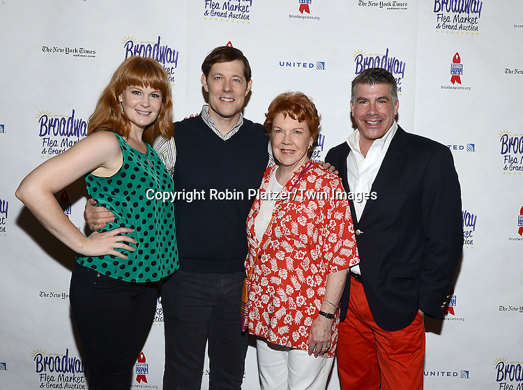Kate Baldwin, John Bolton, Beth Fowler and Bryan Batt attend the 28th Annual  Broadway Cares/ Equity Fights Aids Flea Market and Auction on September 21,2014 in Shubert Alley in New York City. <br /> <br /> photo by Robin Platzer/Twin Images<br />  <br /> phone number 212-935-0770